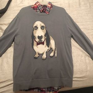 Sweater plaid combo